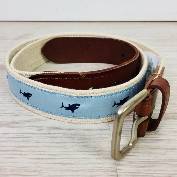 J. Crew Other - J. Crew Leather and Canvas Shark Belt Size 34